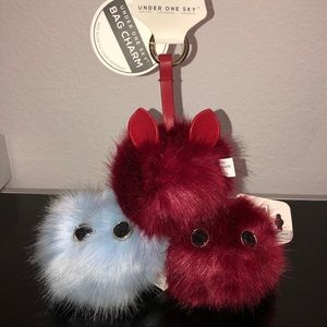 NWT Under One Sky Fluffy Furry Bag Charm